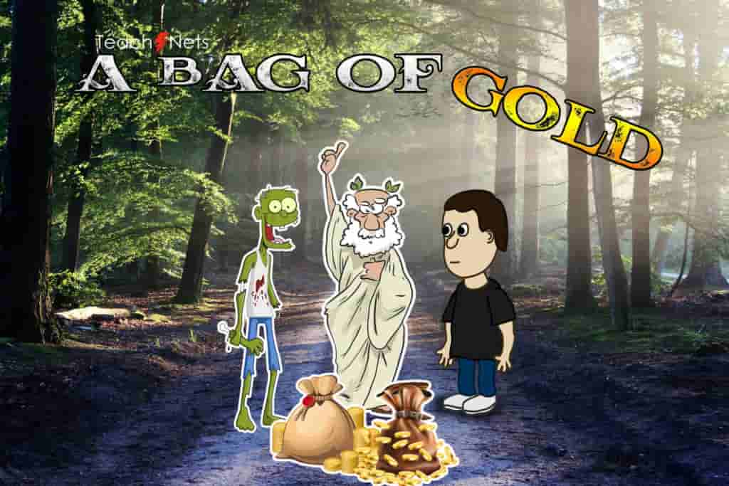 A Bag Of Gold Short Stories In English With Moral