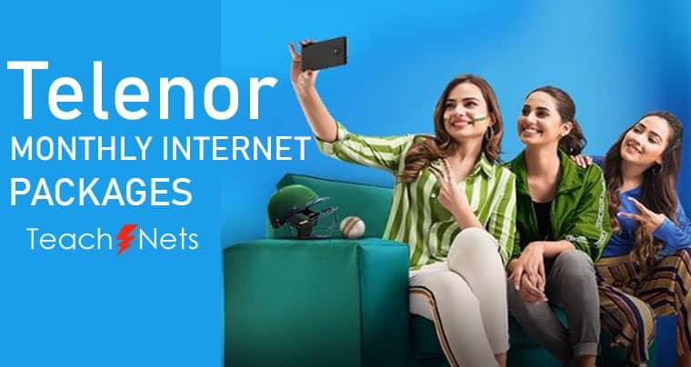 Telenor Monthly Internet Package - Telenor Net Package
