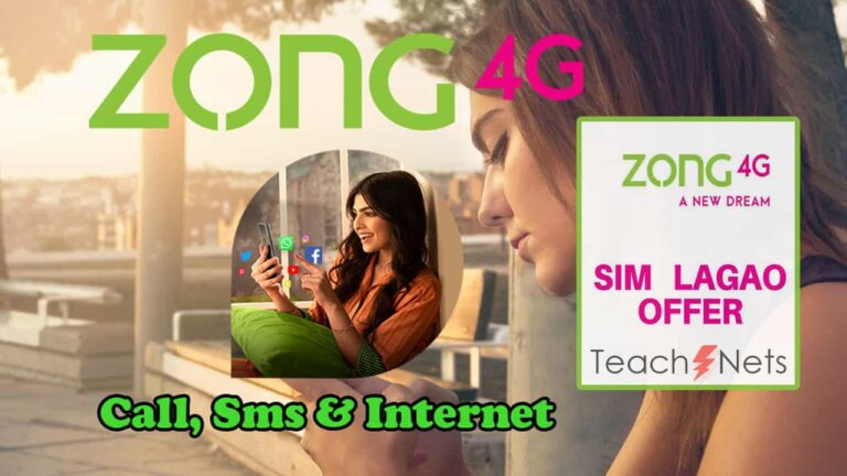 Zong Sim Lagao Offer Detail - Zong 4G Packages