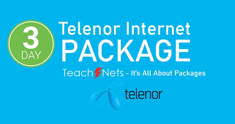 Telenor Internet Package 3 Days | Telenor Net pkg